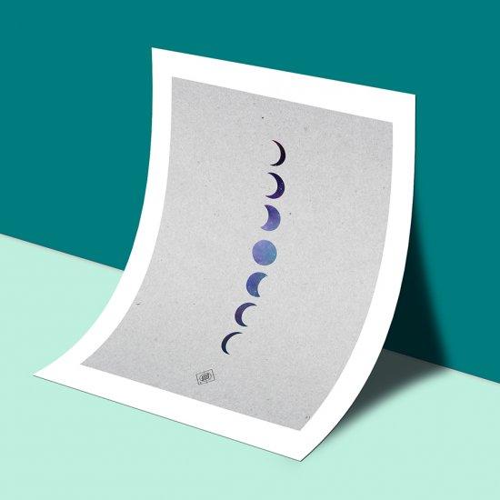Galaxy Moon Phases Free Printable