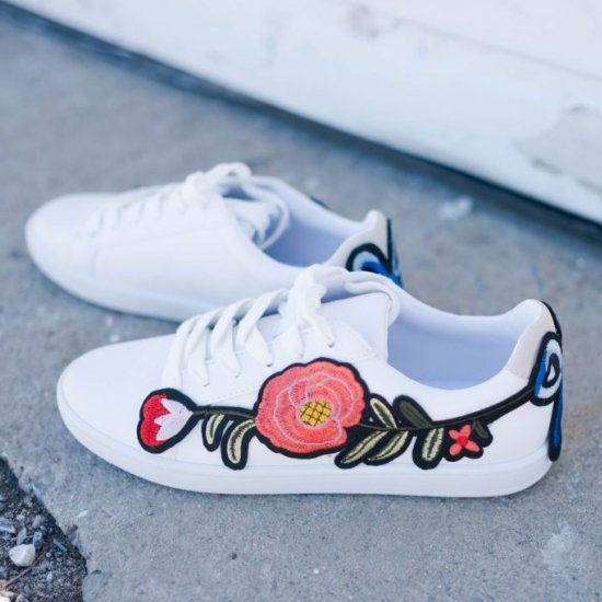 DIY Embroidered Sneakers
