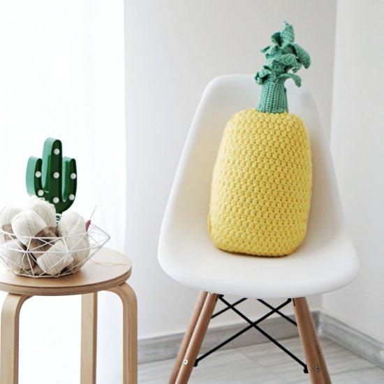 Crochet pineapple pillow