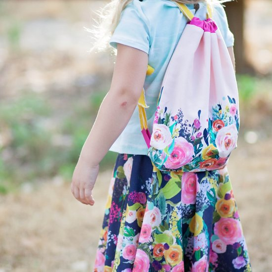 Drawstring Backpack Sewing Tutorial