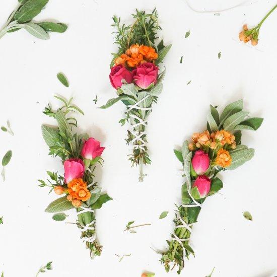 DIY Fresh Floral Incense Bundles