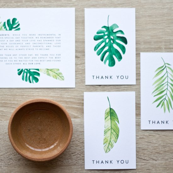 Tropical Thank-Yous