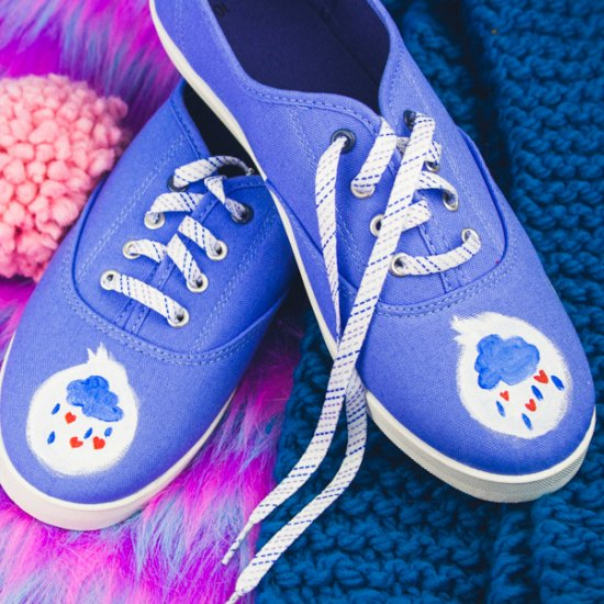 HAND PAINTED CARE BEARS SHOES