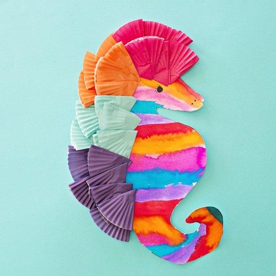 Watercolor Seahorse Art