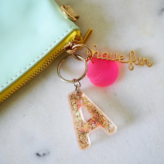 Resin & Glitter Keychain