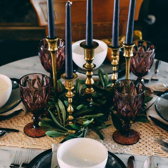 DIY Olive Stem Candlestick Wreaths