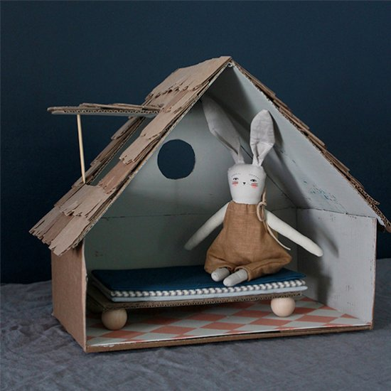 Cardboard Cottage Bunny House