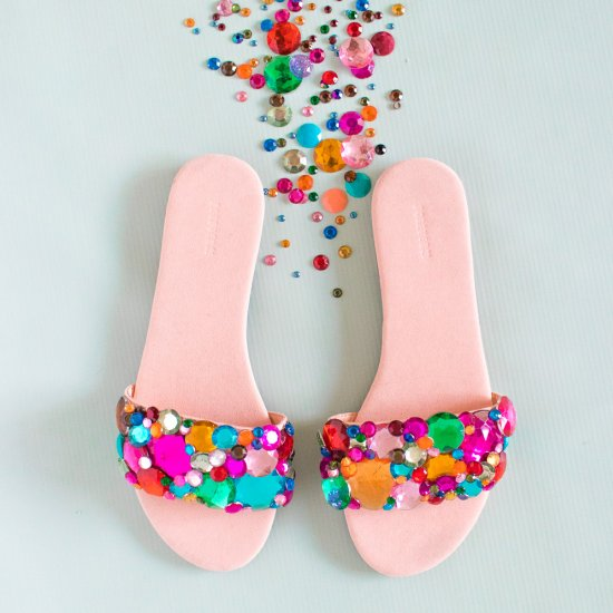 Rhinestone Slider Sandals