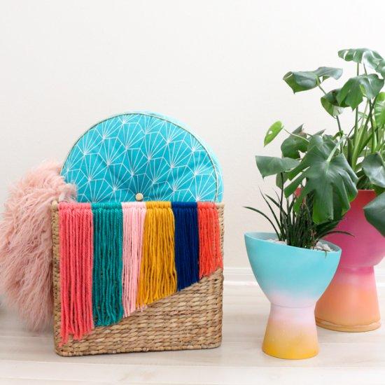 Woven Wicker Storage Basket