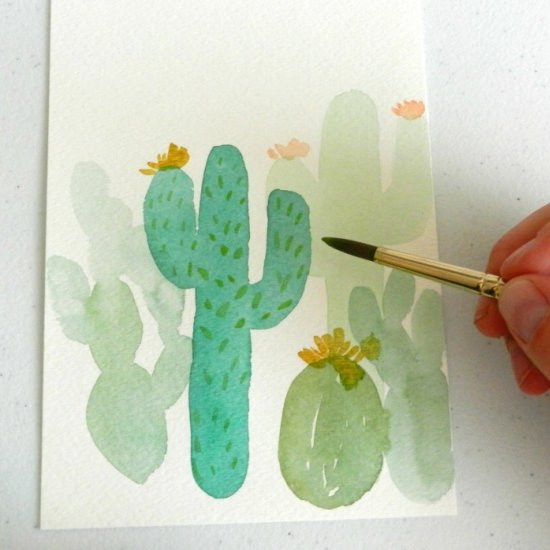 Two Ways to Paint Cactus