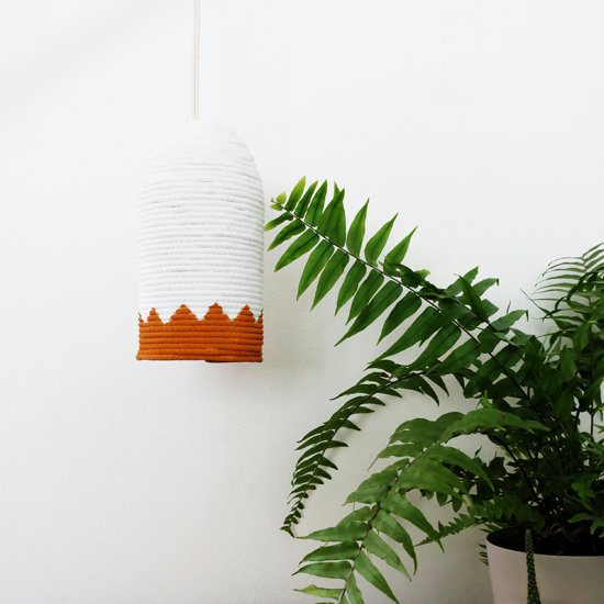 How to make a rope lampshade