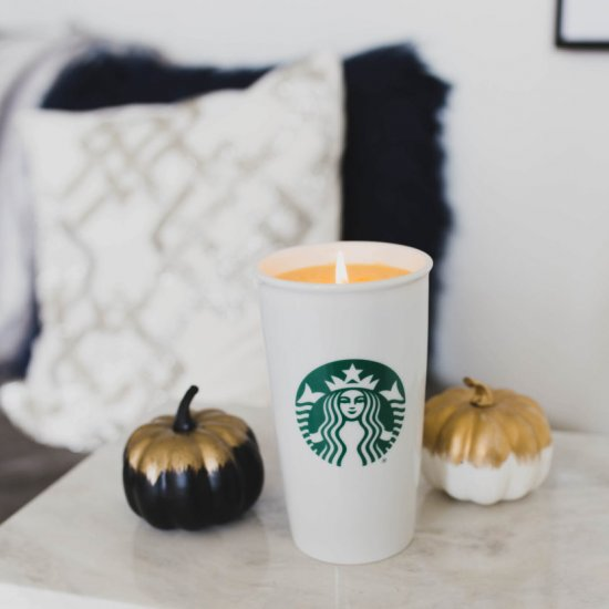 DIY Pumpkin Spice Latte Candle