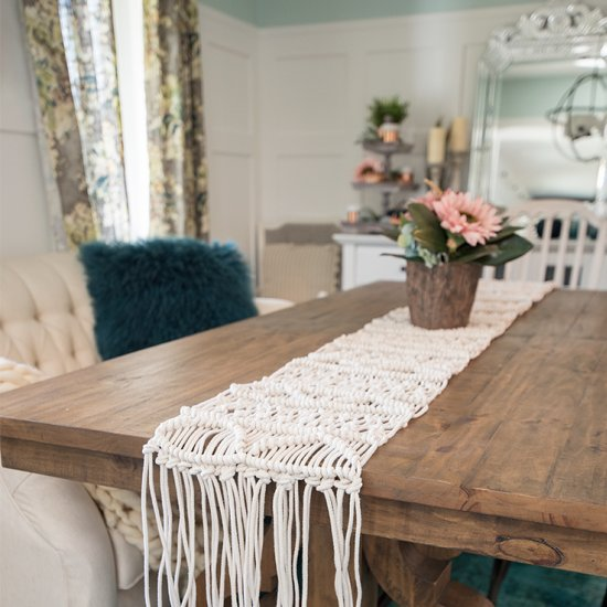 Make A Macrame Table Runner