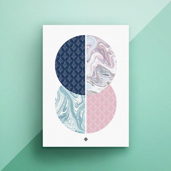 Marble Circles Free Printable