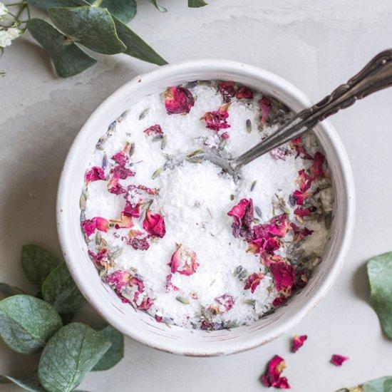 DIY aromatherapy bath salts