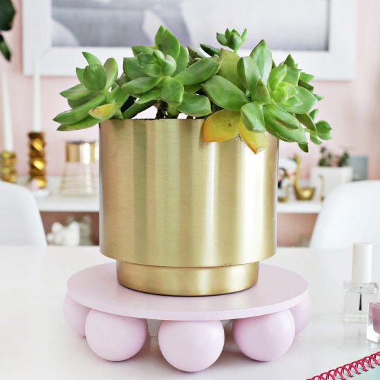 Wooden Ball Plant Stand