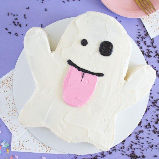 Emoji Ghost Cake