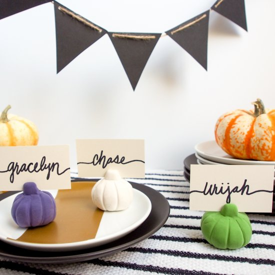 Pumpkin Place Card Holders