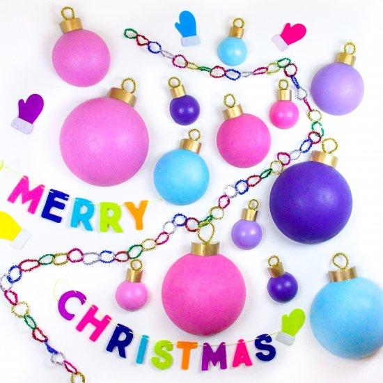 Giant Christmas Ornament Backdrop!