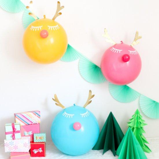 DIY Large Reindeer Balloons