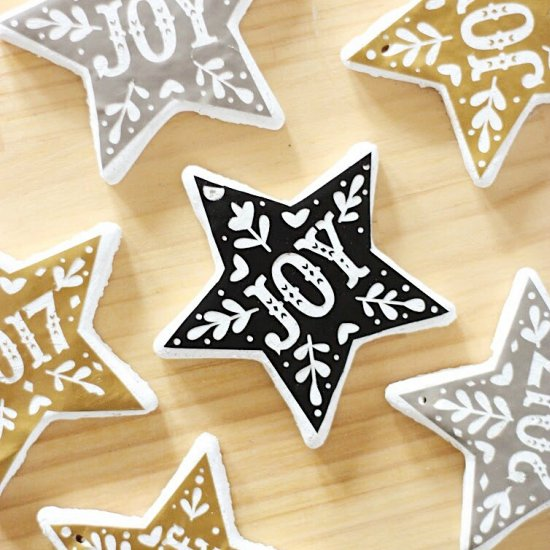 Graphic Salt Dough Ornaments