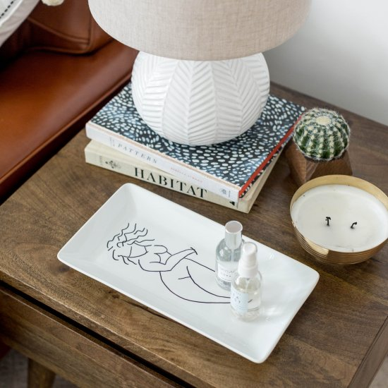 DIY Sketched Lady Platter