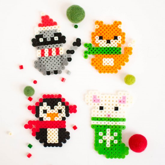 christmas perler bead patterns | craftgawker