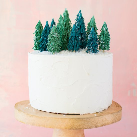 Paper tree forest cake topper