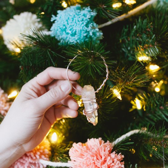 wrapped crystal ornaments