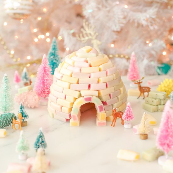 DIY Candy Igloo Holiday Decoration