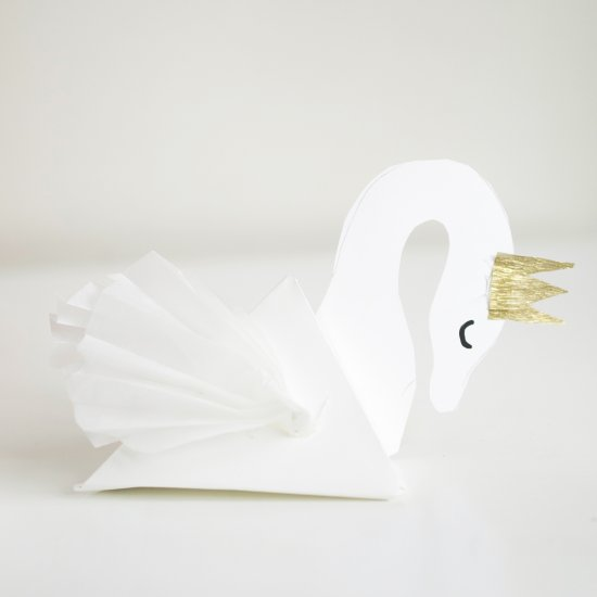 Swan Gift Box Ornament w/ template