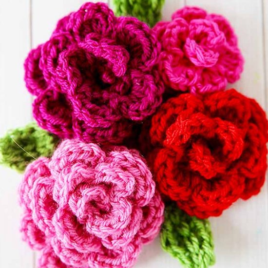 Free Easy Rose Crochet Pattern Skip To My Lou