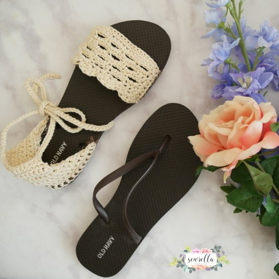56fe44c221e83 Crochet Sandals with Flip Flop Sole