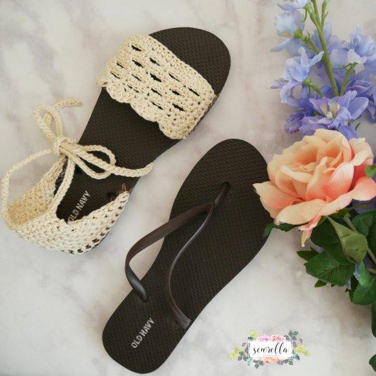 75a594a0a5a9 Crochet Sandals with Flip Flop Sole