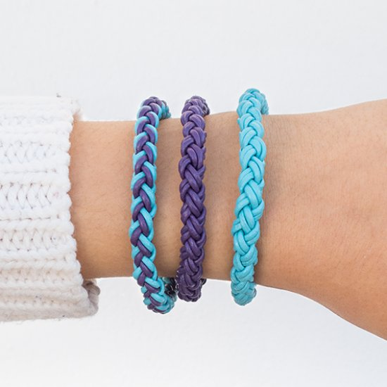 diy round braid leather bracelets | craftgawker