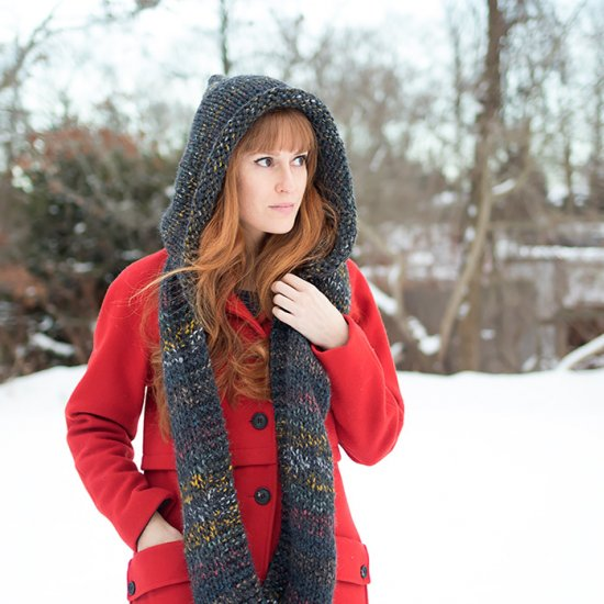 Hooded Scarf Knitting Pattern Craftgawker