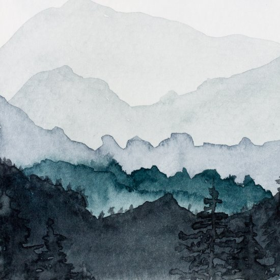 how to paint watercolor mountains craft gawker bloglovin. Black Bedroom Furniture Sets. Home Design Ideas