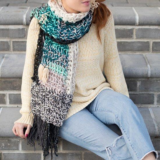 leftover yarn scarf crochet pattern | craftgawker