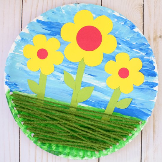 Paper plate flower craft craftgawker paper plate flower craft mightylinksfo