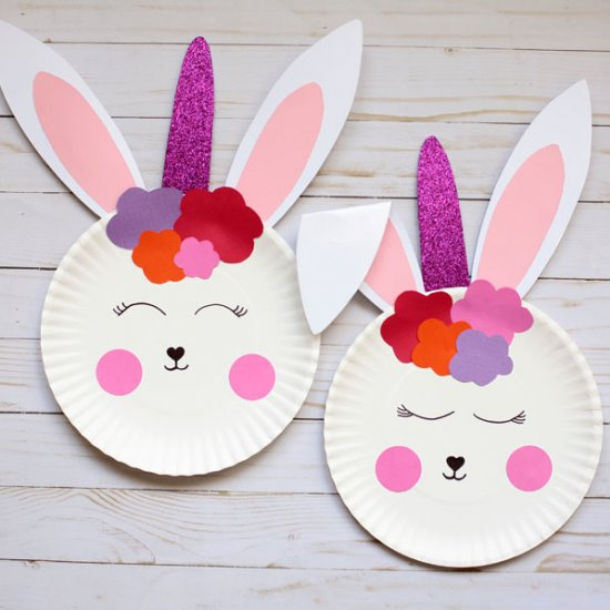 ... Paper plate bunny unicorns & non toy gifts | craftgawker