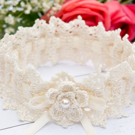 Crochet Wedding Garter: Lace Wedding Garter Crochet Pattern
