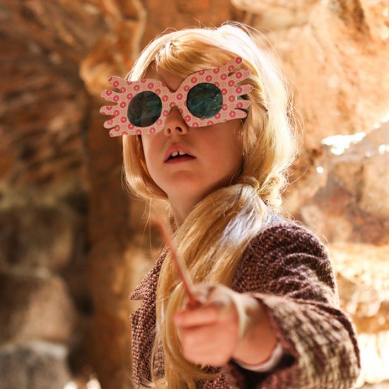 photo relating to Luna Lovegood Glasses Printable named do it yourself luna lovegood halloween gown craftgawker