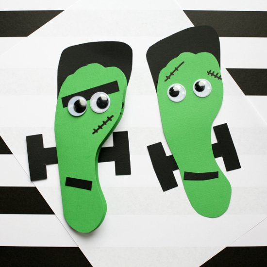 abb8b513ea5348 Frankenstein footprint card