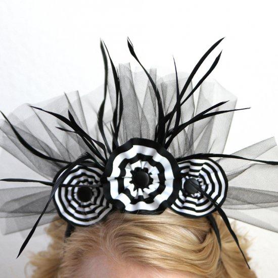 diy black white headband