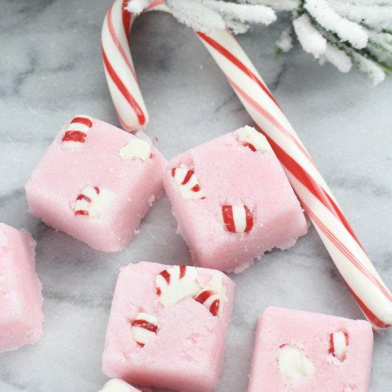 Candy Cane Sugar Scrub Cubes