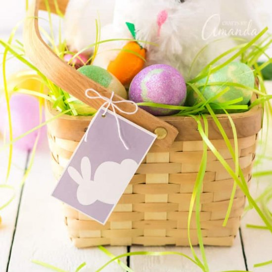 graphic relating to Easter Basket Printable called printable easter basket tag craftgawker