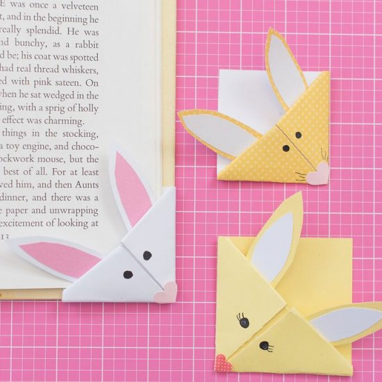 How to Make a Bunny Corner Bookmark - Bookmark Ideas - YouTube   550x550