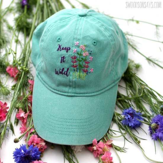 hand embroidered hat | craftgawker