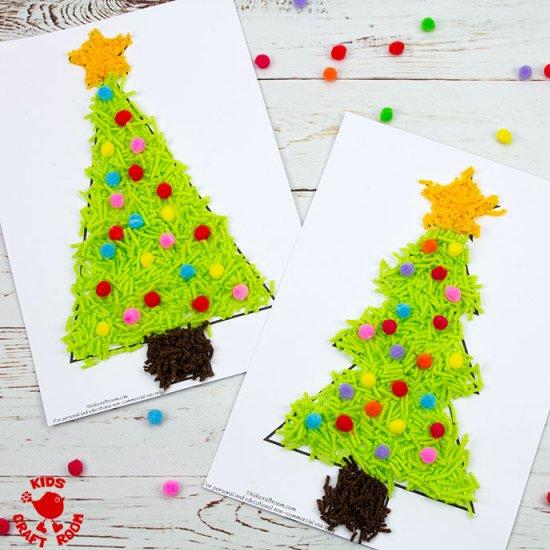 Scrap Yarn Christmas Trees