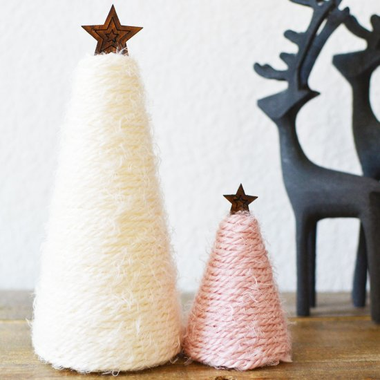 DIY Holiday Yarn Trees